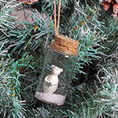 Bear In A Bottle Christmas Tree Decoration