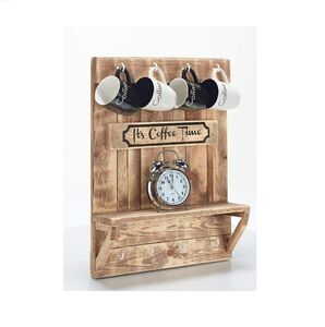 Coffee Time Wooden Wall Rack