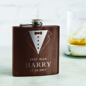 Personalised Best Man Hip Flask - hip flasks