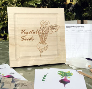 Personalised Seeds Storage With Seeds - gardening