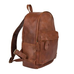 Personalised Leather Classic Backpack/Rucksack - gifts for him