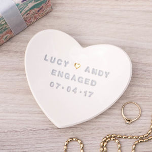 Personalised Engagement Gift Ring Dish - home accessories