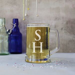 Personalised Monogram One Pint Stein Tankard - glassware