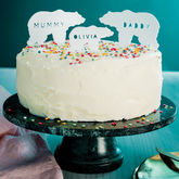 Personalised Arctic Animal Cake Toppers - parties