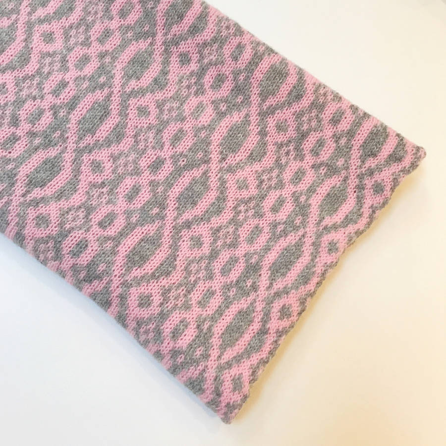 Snood Pattern Knit : ladies knitted pink snood cable pattern by little knitted stars notonthehig...