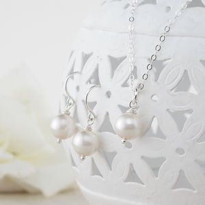 Alexia Ivory Pearl Pendant And Earring Set - for children
