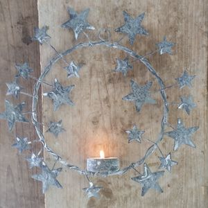 Star Wreath Tea Light Holder - votives & tea light holders