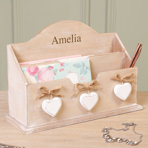 Personalised Home Office And Hallway Desk Mail Store - magazine racks