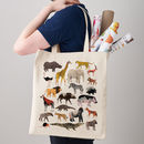 Safari Animals Canvas Tote Bag