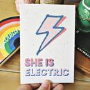 She Is Electric 100% Recycled Card