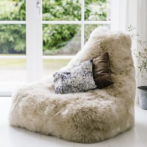 Luxury Sheepskin Beanbag Chair - furniture