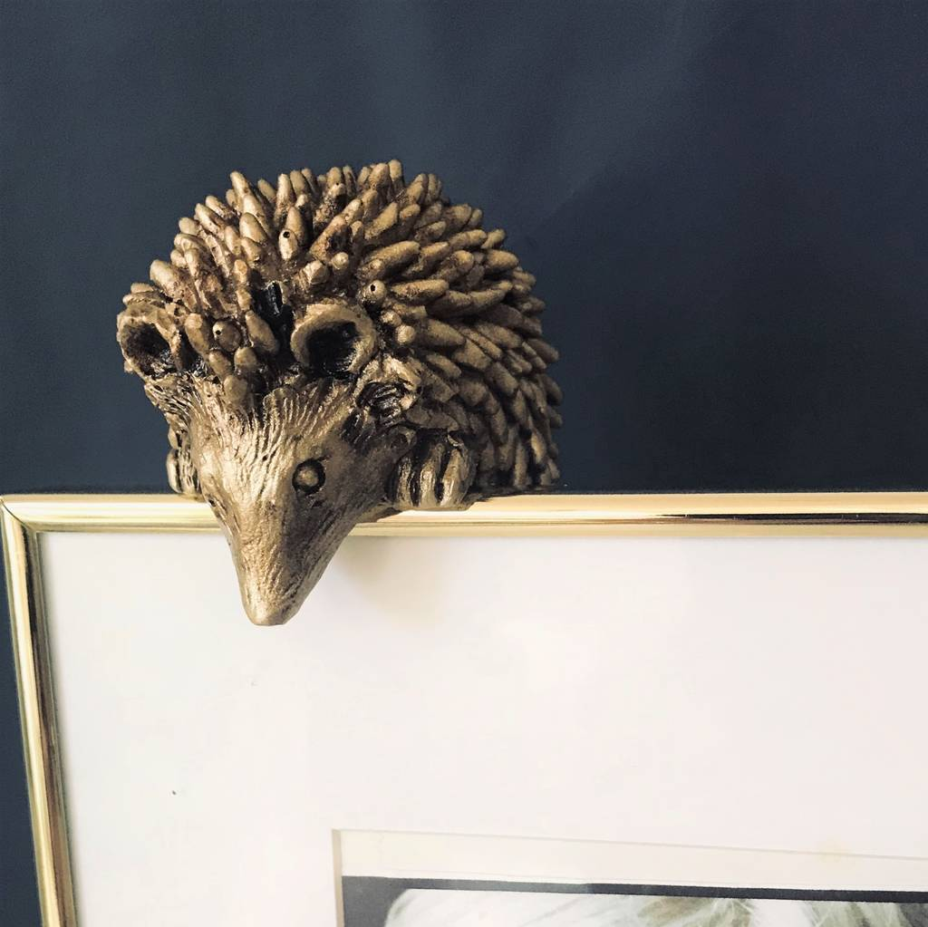 Gold Hedgehog Pot Hanger Gift by Ella James