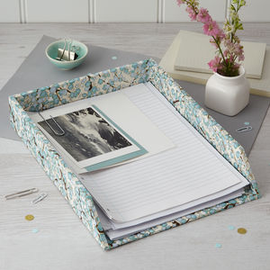 Letter Tray Blue Blossom