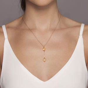 Gemstone T Bar Necklace In Gold Or Silver