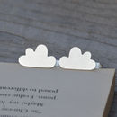 Personalised Fluffy Cloud Cufflinks In Sterling Silver