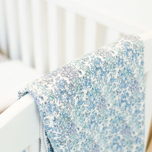 Liberty Print Baby Blanket In Tom - baby's room