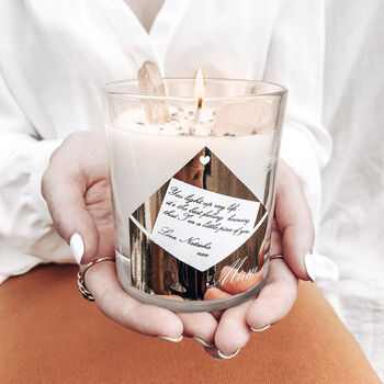 Personalised 'Gift For Mum' Crystal Intention Candle
