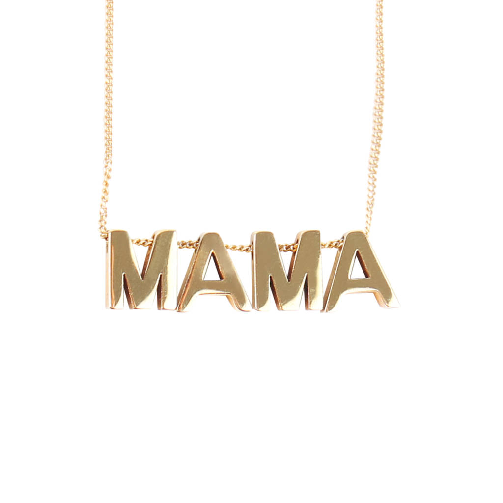diamond mama with necklace gold en white tous us