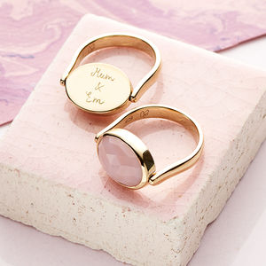 Personalised Gem Spinning Ring - gifts for her