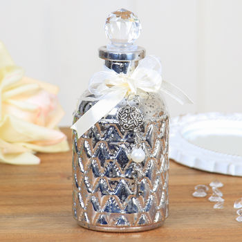 Luxury Victoriana Silver Perfume Bottle