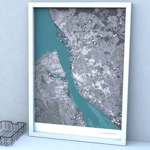 Personalised Location Map Print - gifts for travel-lovers