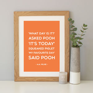 Winnie The Pooh 'Favourite Day' Print - shop by subject