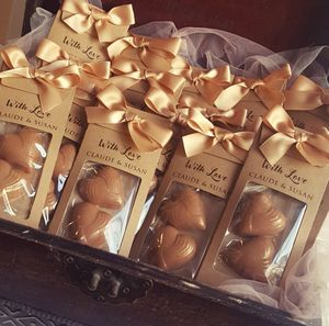 Chocolate Hearts Wedding Favours - edible favours