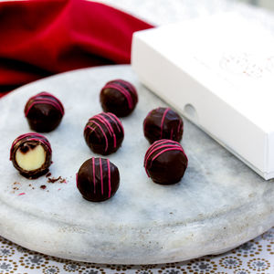 Raspberry Gin Chocolate Truffle Gift Box - christmas entertaining