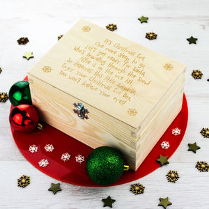 Personalised Christmas Eve Box With Poem - christmas eve boxes
