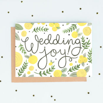 'Wedding Joy!' Wedding Card