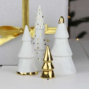 A Christmas Forest Of Porcelain And Gold Or Silver
