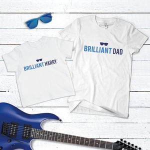 Father And Little One T Shirt Set