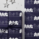 Winter Scene Christmas Wrapping Paper Set