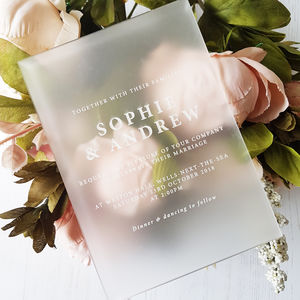 Elegant Perspex Wedding Invitation