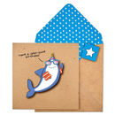 Handmade Funny Shark Personalised Birthday Card