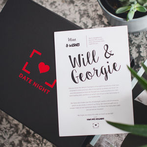 Three Month Personalised Date Night Subscription - subscription gifts