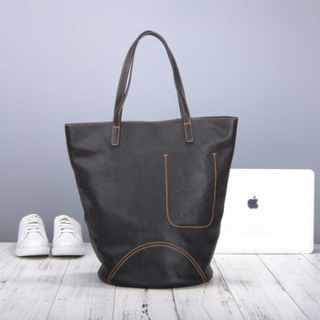 Womens Genuine Leather Tote Bag