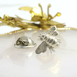 Bee Sterling Silver Pin Brooch - pins & brooches