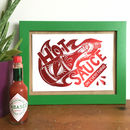 Foil Hot Sauce Kitchen Mini Print