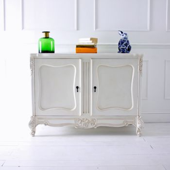 Two Door White French Sideboard