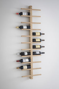 Raw Oak Wine Rack - storage & organisers