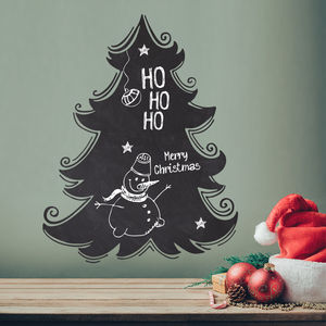 Write And Erase Christmas Tree Wall Sticker Decal