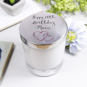 Scented Luxury Birthday Candle With Lid - candles & home fragrance
