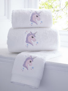 Unicorn Personalised Towel - bathroom