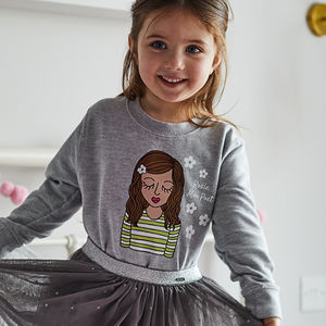 Mini Personalised 'Flower Power' Sweatshirt