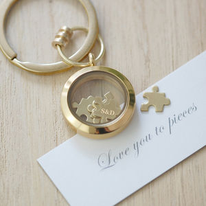 'Love You To Pieces' Keyring - best anniversary gifts