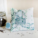 Dotty Bird Lavender Bag, Teal