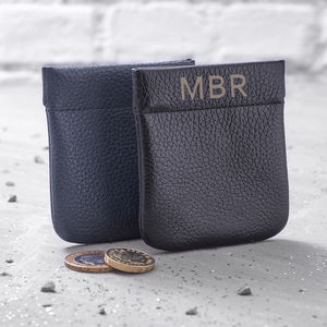 Men's Personalised Italian Leather Coin Purse - mens