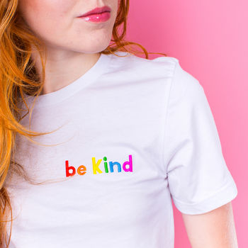 'Be Kind' Embroidered Women's T Shirt