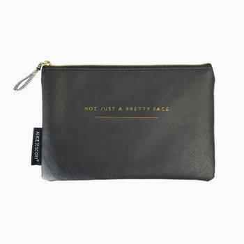 Cosmetic Bag With Quote